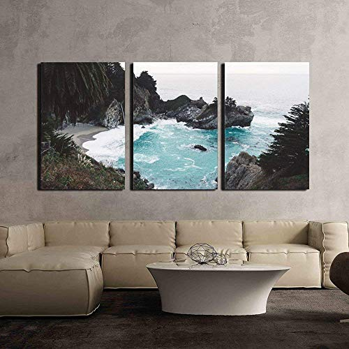 Sea Bay with Rocks Waves x3 Panels
