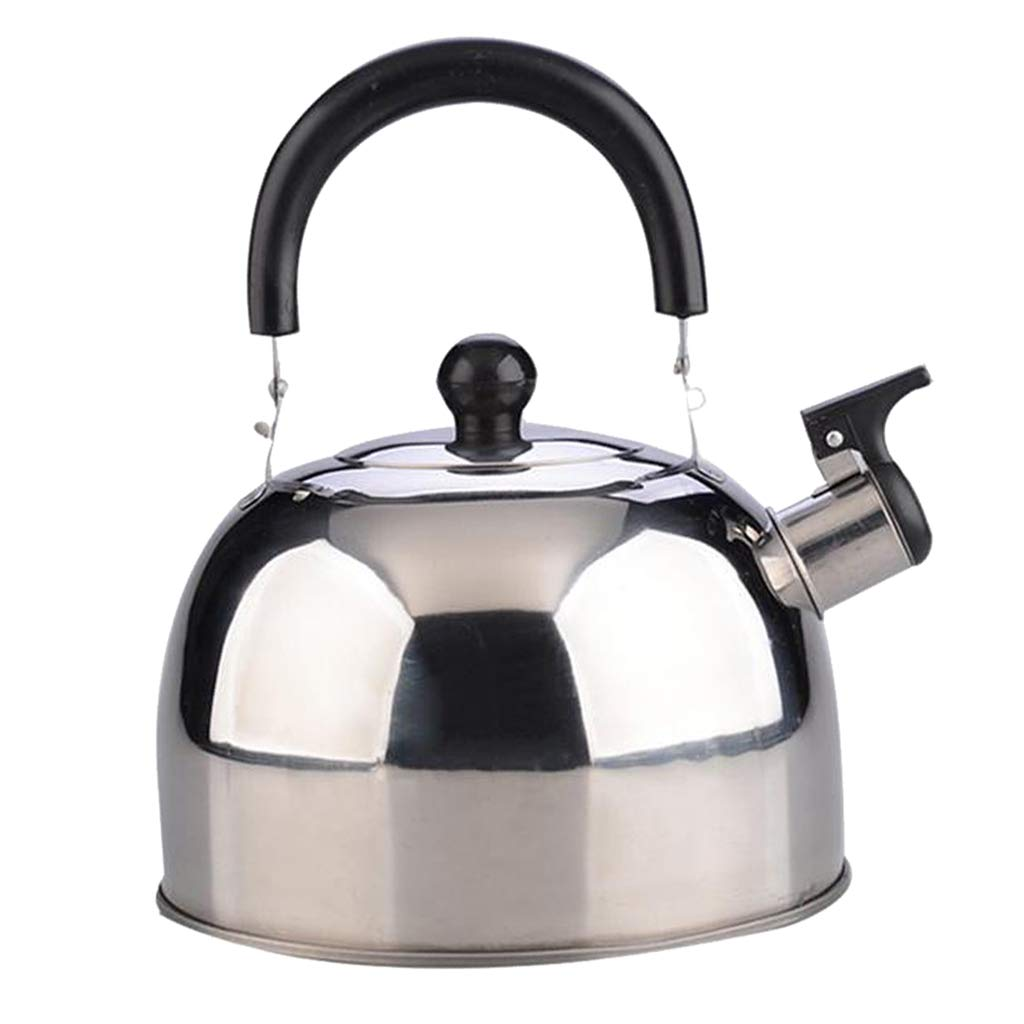 Baoblaze 3L Stainless Steel Whistling Kettle Teapot Electric Stove Gas Hobs Camping