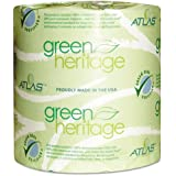 Green Heritage Toilet Tissue, 4 1/2 x 3 4/5 Sheets, 1-Ply, 1000/Roll, 96 Roll/CT, Sold as 1 Carton, 96 Each per Carton