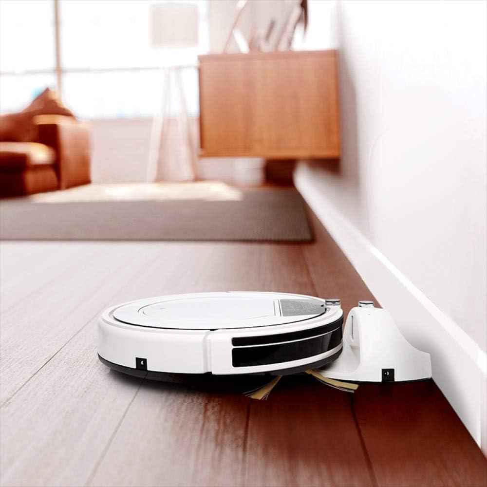 RVTYR Nettoyage Robot-aspirateur SweepWet Mop Hard FloorsCarpet Anti Collision Pet Cheveux Recharge Automatique Contrôle WiFi, aspirateur (Color : White) White
