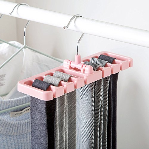 SZBLNSM Storage Rack Tie Belt Organizer Space Saver Rotating Scarf Ties  Hanger Holder Hook Closet Organization