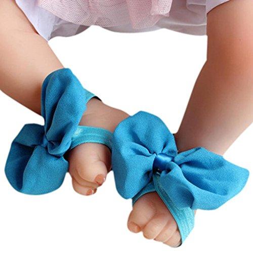 Koly 1 Par Infantil Arco Gasa Pie sandalias de playa (Gris) Azul