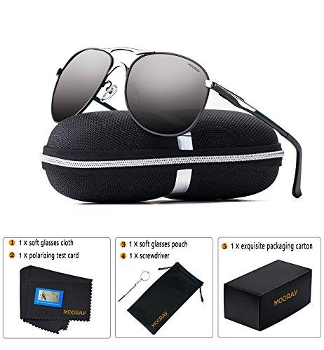 MOORAY Polarized Aviator Sunglasses for Men and Women UV Protection Mens and Womens Sports Sunglasses