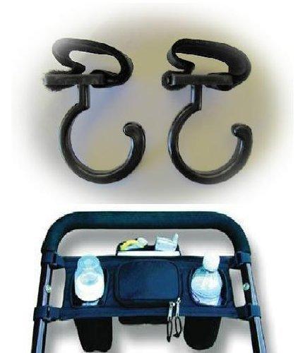 Stroller Caddy Cupholder and Stroller Hooks (2 Pack)