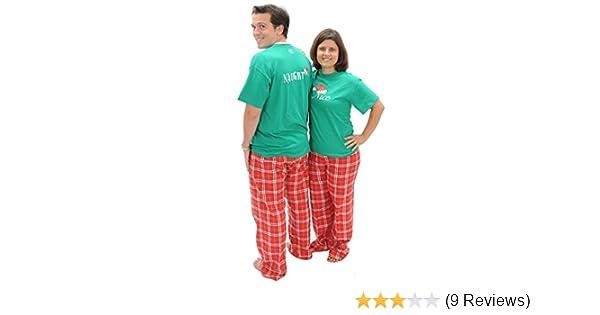 Amazon.com: matching christmas pajamas naughty nice 2 sided adult