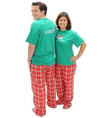 Amazon.com: Matching Christmas Pajamas Naughty-Nice 2 ...