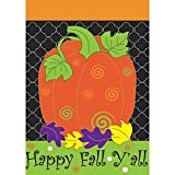 "Magnolia ""Happy Fall Y'all Pumpkin Garden Flag, 13″ x 18"" For Sale"