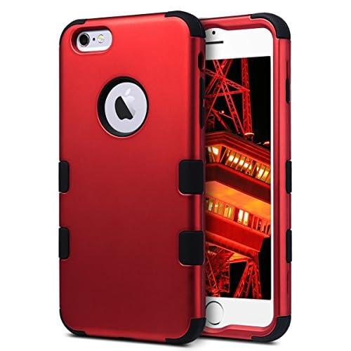 2dc1b511385 iPhone 6 Plus Caso 5,5 pulgadas, ULAK iPhone 6s Plus Funda Carcasa Case  3in1 Hybrid Rugged Silicone Shock Absorcion Protector duro resistente al  polvo para ...
