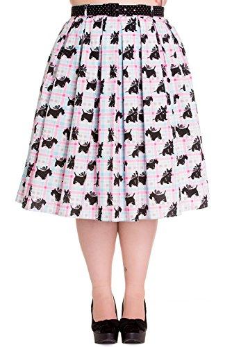 Hell-Bunny-Plus-50s-Retro-Scottish-Terrier-Pastel-Plaid-Check-Circle-Skirt