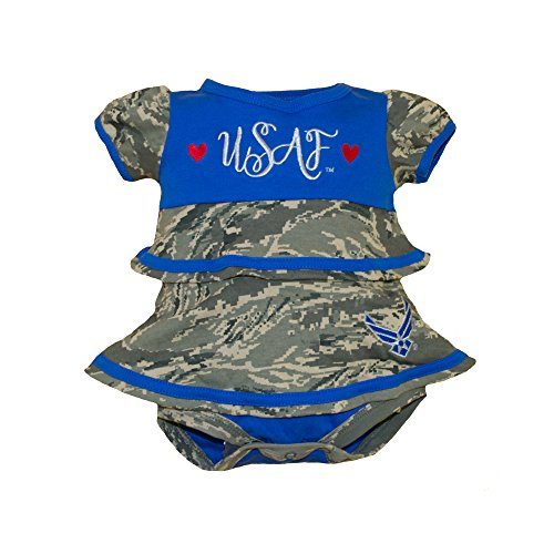 TC U.S. Air Force Baby Girl Embroidered Ruffle Dress (0-3 Months)