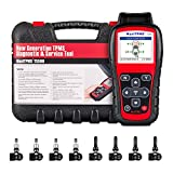 Autel TS508K TPMS Diagnostic Tool Read TPMS Sensor, Check TPMS System Health Condition, Program MX-sensors and Conduct TPMS Relearn, With 315MHz/ 433MHZ MX-Sensor Rubber/ Metal stem sensors(8pc)