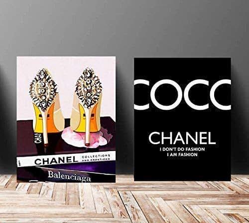 Amazon.com: Wall Art Poster Print - COCO CHANEL, Shoes