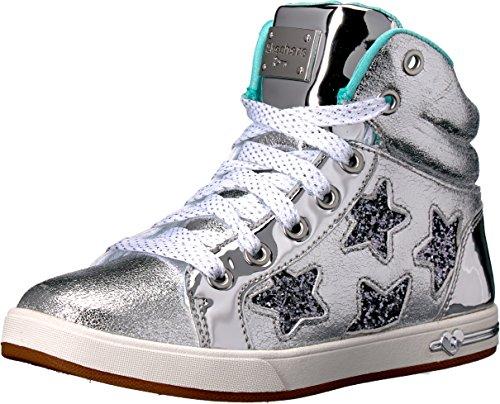 Skechers Kids Girls' Shoutouts-84320L Sneaker,Silver,