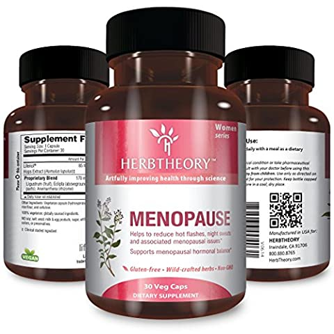 Menopause for Women by Herbtheory (255mg, 30 Capsules) Herbal Supplement - Ortho Garden Disease Control