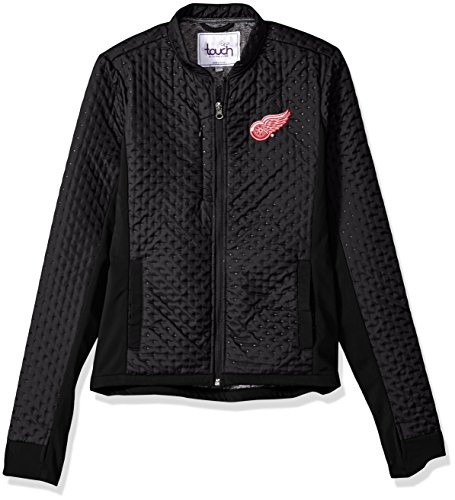 Touch by Alyssa Milano NHL Detroit Red Wings Women's Lead Off Jacket, Black, X-Large