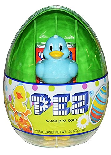 PEZ Easter Egg Assorted Candy Dispensers, 0.58 Ounce (Green Egg with (Storm 90s Costume)