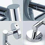 LOVELY Stainless Steel Wall Mount Swing Out Towel Bar 2-Bar Folding Arm Swivel Hanger Towel Rack Hanger Holder Organizer None None