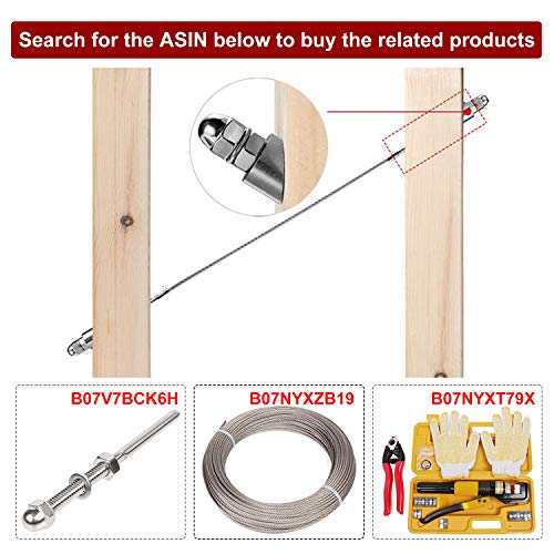 DIY Balustrade Wood//Metal//Aluminum Posts CKE 25 Pack Stainless Steel 1//4 30 Degree Angle Beveled Washer for 1//8 to 3//16 Deck Cable Railing T316 Marine Grade