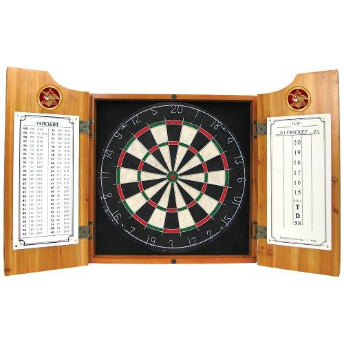 anheuser-busch-wood-dart-cabinet-set