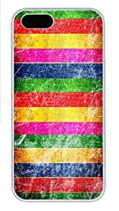 iPhone 5s Case, iPhone 5s Cases - patterns abstract colors parallax 16 PC Polycarbonate Hard Case Back Cover for iPhone 5sšCWhite