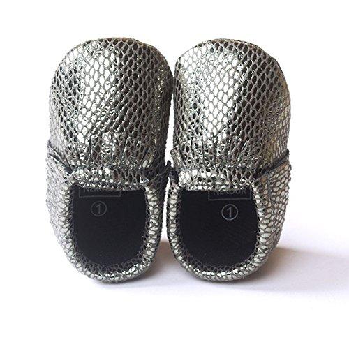 ESHOO bebé niños niñas borla mocasín de piel sintética suave suela zapatos 0–