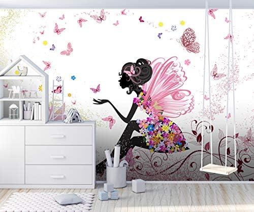 Motivtap 350 x 260 cm Wandbild Fototapete Schmetterlingselfe Grö/ße