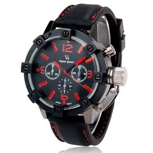 Case Military Men's Stainless Steel Wrist Watch Red ()