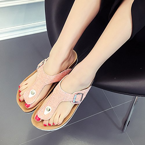 Foot GUANG Ciabatte Cork Ladies Style Flip Slippers Sandali E Gold Slippery XING Summer Drag Flops Beach New w1xWnq1HU