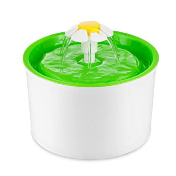 Fuente de Agua Silenciosa para Mascotas con Dispensador Circular en Forma de Margarita y 3 Modos