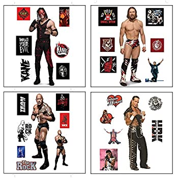 3 Big Stickers, 19 Small Stickers Myesha Toys WWE Medium Size Stickers Roman Reigns Its My Yard Seth Rollins Freakin Stickers Pack of 3 Sticker Sheets The New Day