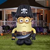 Gemmy Airblown Inflatable 9' X 6' Giant Eye Pirate Matie Minion Halloween Decoration
