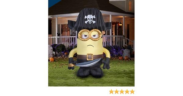 6 Foot Tall Pirate Minion Inflatable /'Eye Matie Minion/'