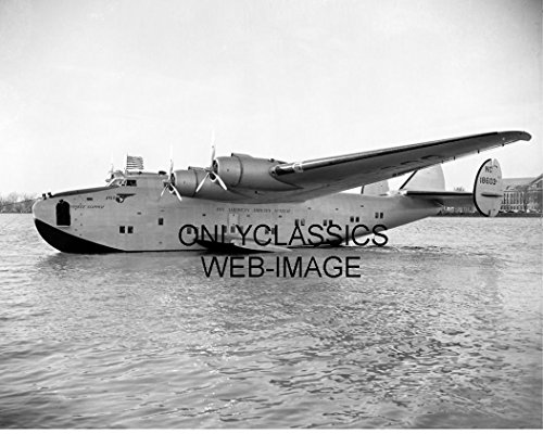 OnlyClassics 1939 Boeing PAN AM Airways Flying Boat Yankee Clipper Airplane Photo Aviation