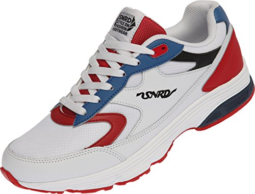SNRD-714 Unisex Fashion Curved Sports Sneakers Shoes White Blue Red Ueos9Eq
