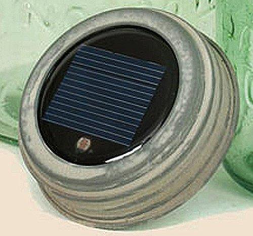 Mason Jar Galvanized Solar Lid Light]()