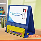 Eamay Magnetic Desktop Tabletop Stands Pocket Chart Foldable Samll Dry Erase Board Classroom Tool for Kids Education