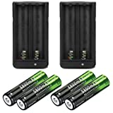 Best 18650 Batteries - Lightbole 4x18650 lithium 5800mAh Rechargeable Batteries 3.7V And Review