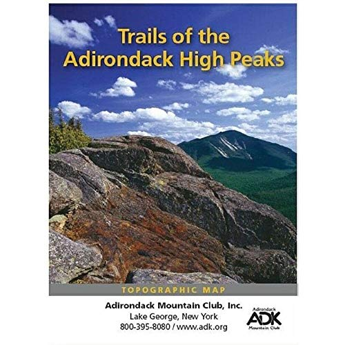 High Peaks Adirondack Trail Map Adirondack High Peaks Map
