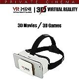 Hello Zone Exclusive Mini Virtual Reality 3D VR Box Adjustable 3.5~6 inch Screen for Moto G4 Plus