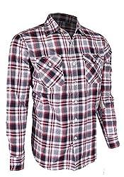 G Zap Men's Long Sleeve Button Down Patterned Top(MENTOP-CAS,REDA7-3XL)