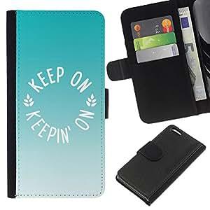 Stuss Case / Funda Carcasa PU de Cuero - Menta Verde Marrón Verano - Apple Iphone 5C