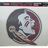 "Florida State Seminoles FSU SD56038 Large 12"" Perforated Auto Window Film Glass Decal University"