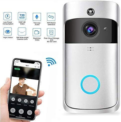 TEEPAO Video Doorbell Traje, Inalámbrico Videoportero 720HD con ...