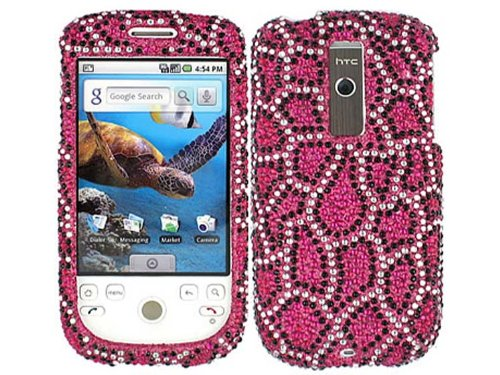T-mobile Mytouch 3g Bling (Leopard Hot Pink Bling Rhinestone Crystal Case Cover for HTC MyTouch 3G)