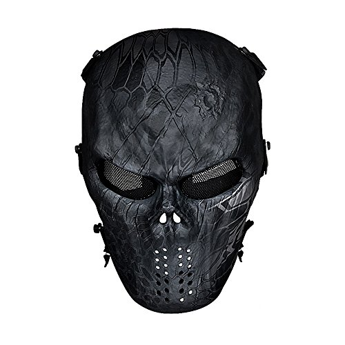 OutdoorMaster Airsoft Mask - Full Face Mask with Mesh Eye Protection (Typhoone)