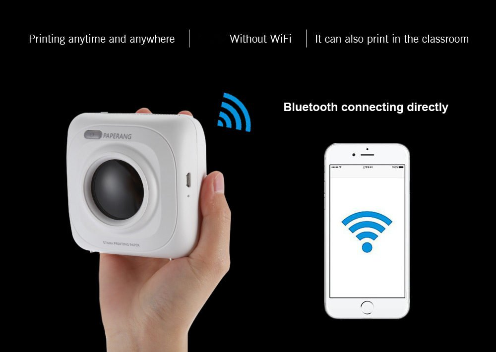 Meiyiu P1 Portable 4.0 Printer Thermal Photo Printer Phone Wireless Connection Printer by Meiyiu (Image #7)
