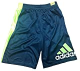 Adidas Boy's Basketball Athletic Shorts, Gray/Green Medium 10/12