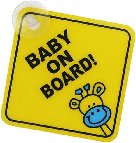 Fliyeong Premium Qualität Baby An Bord Auto Warnung Sicherheit Saugnapf Aufkleber Wasserdichte Anschlagtafel Xp01 Küche Haushalt