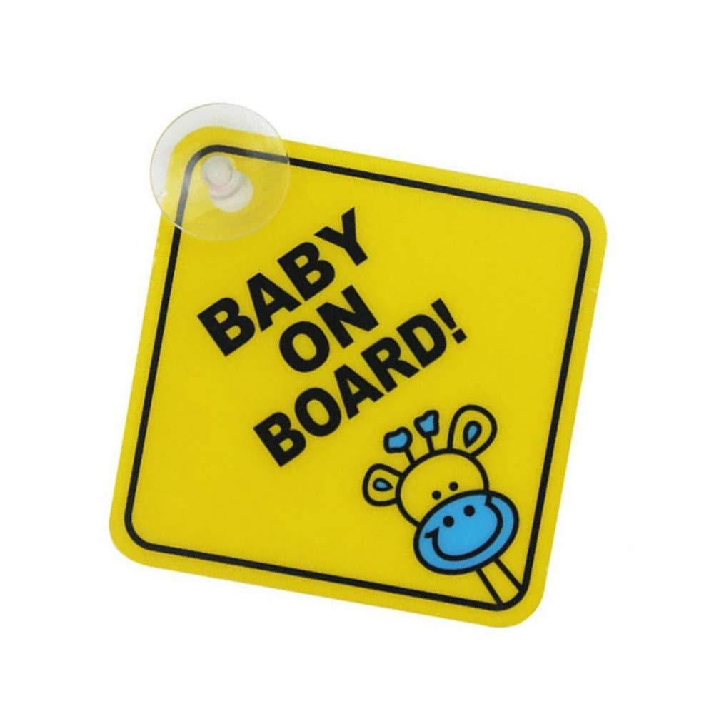 Ogquaton Premium Quality Baby on Board Avertissement de sécurité ventouse autocollant imperméable Panneau d'affichage - XP01