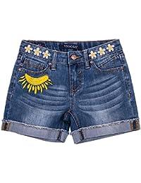 Stretch Denim Mid Shorts for Girls